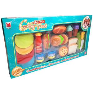 اسباب بازی آشپزخانه مدل فست فود و بستنی کد 1275B مجموعه 24 عددی