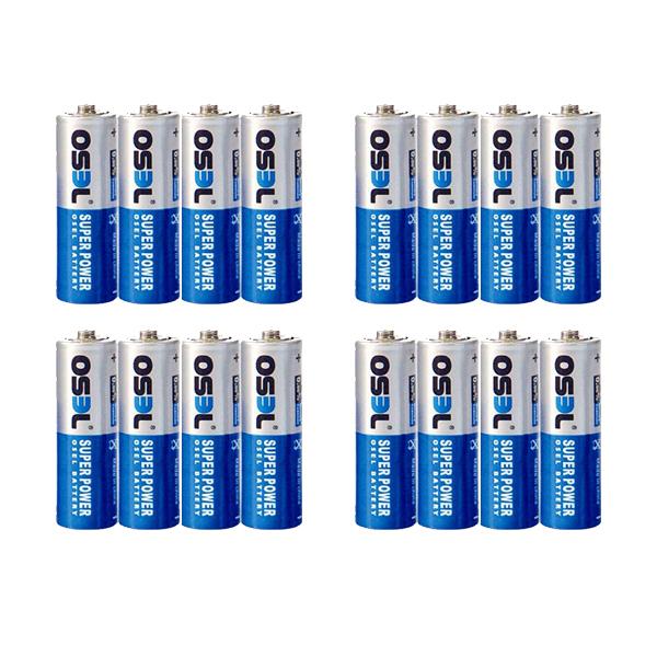 بررسی و {خرید با تخفیف} باتری قلمی اوسل مدل SP633 بسته 16 عددی اصل