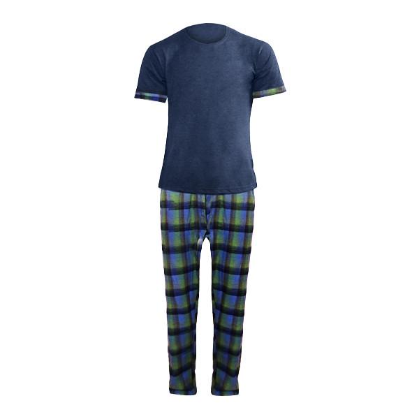 ست تی شرت و شلوار مردانه لباس خونه کد 990429 رنگ آبی