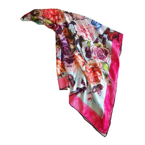 روسری زنانه بلالوک طرح گلستان کد 1