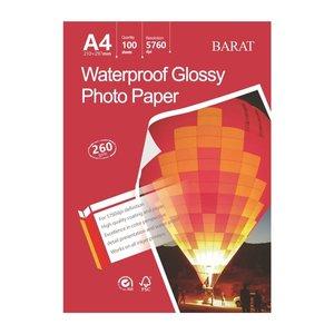 کاغذ چاپ عکس فتوگلاسه بارات مدل 260GR سایز A4 بسته 100 عددی