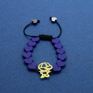 دستبند طلا 18 عیار دخترانه کانیار گالری مدل BB3