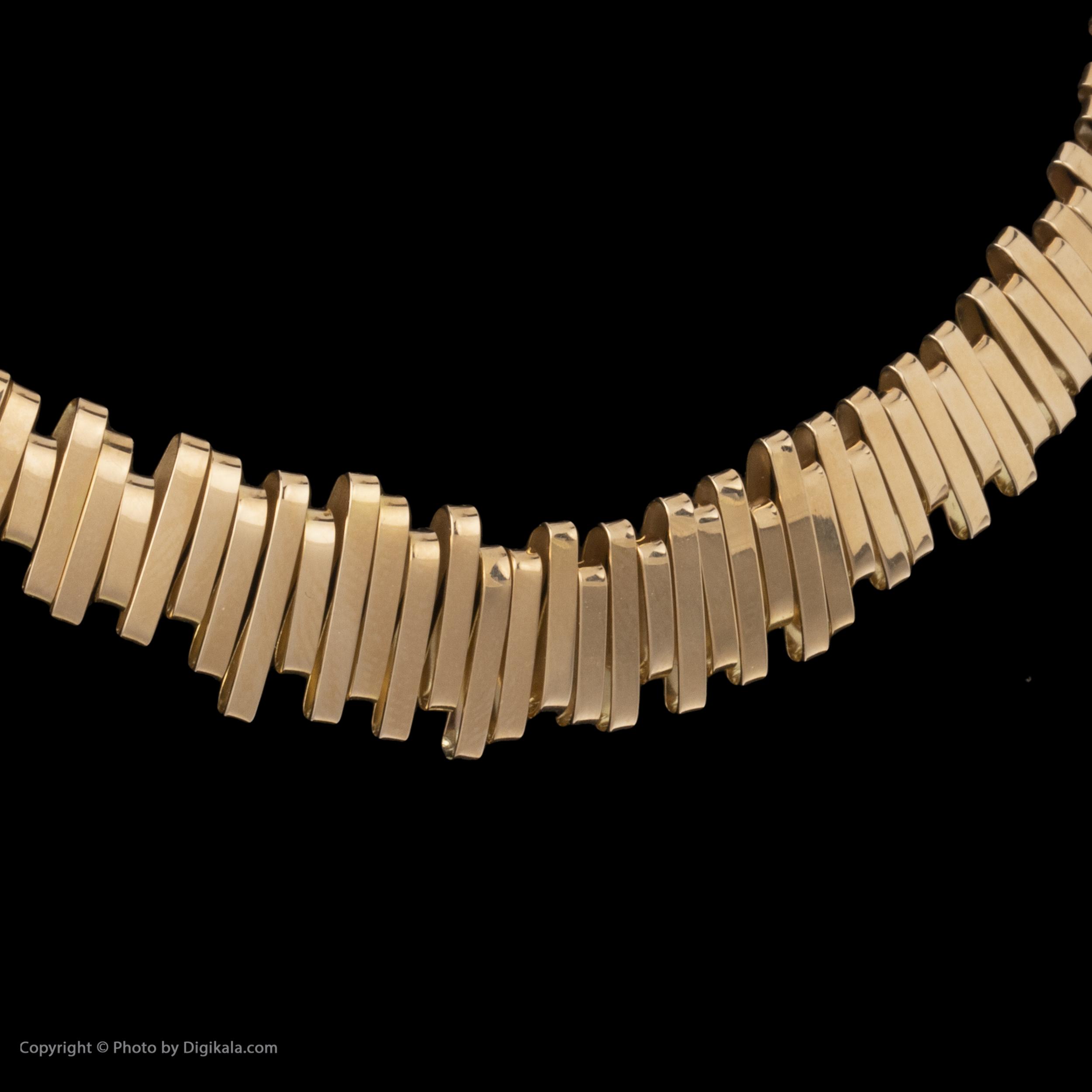گردنبند طلا 18 عیار زنانه سنجاق مدل X069550 -  - 3