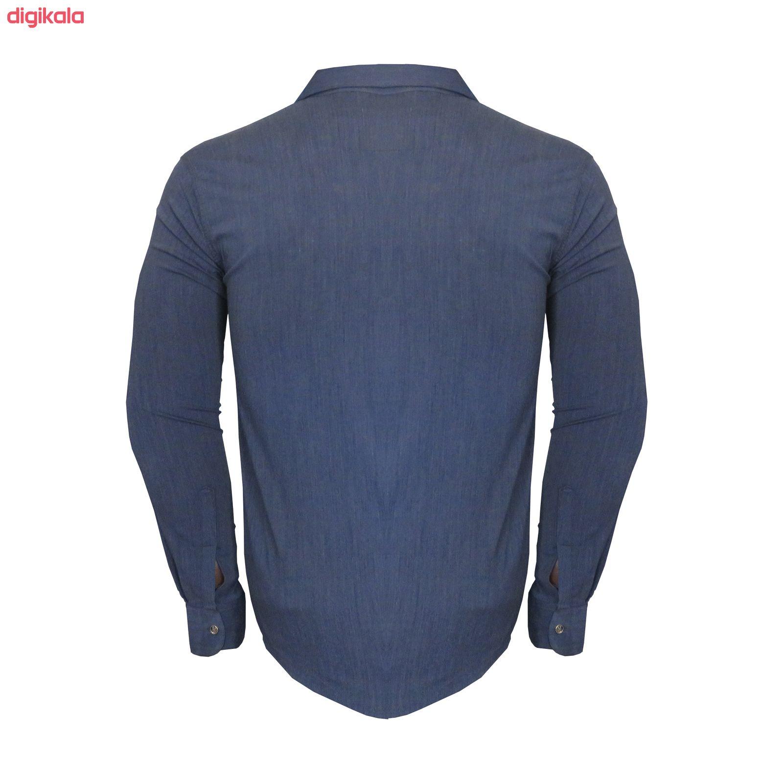 پیراهن مردانه کد PVLFZ9904B3 رنگ آبی main 1 2