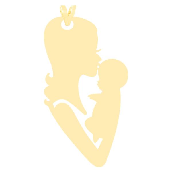 آویز گردنبند طلا 18 عیار زنانه کرابو طرح مادر و نوزاد مدل Kr3320