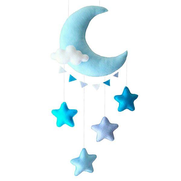 آویز تخت کودک ریماز مدل ماه و ستاره