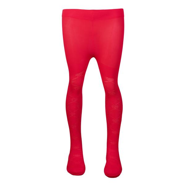 جوراب شلواری دخترانه کد prvne35_32 رنگ قرمز