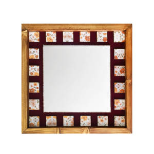 آینه چوبی مدل دکوراتیو کد H-18