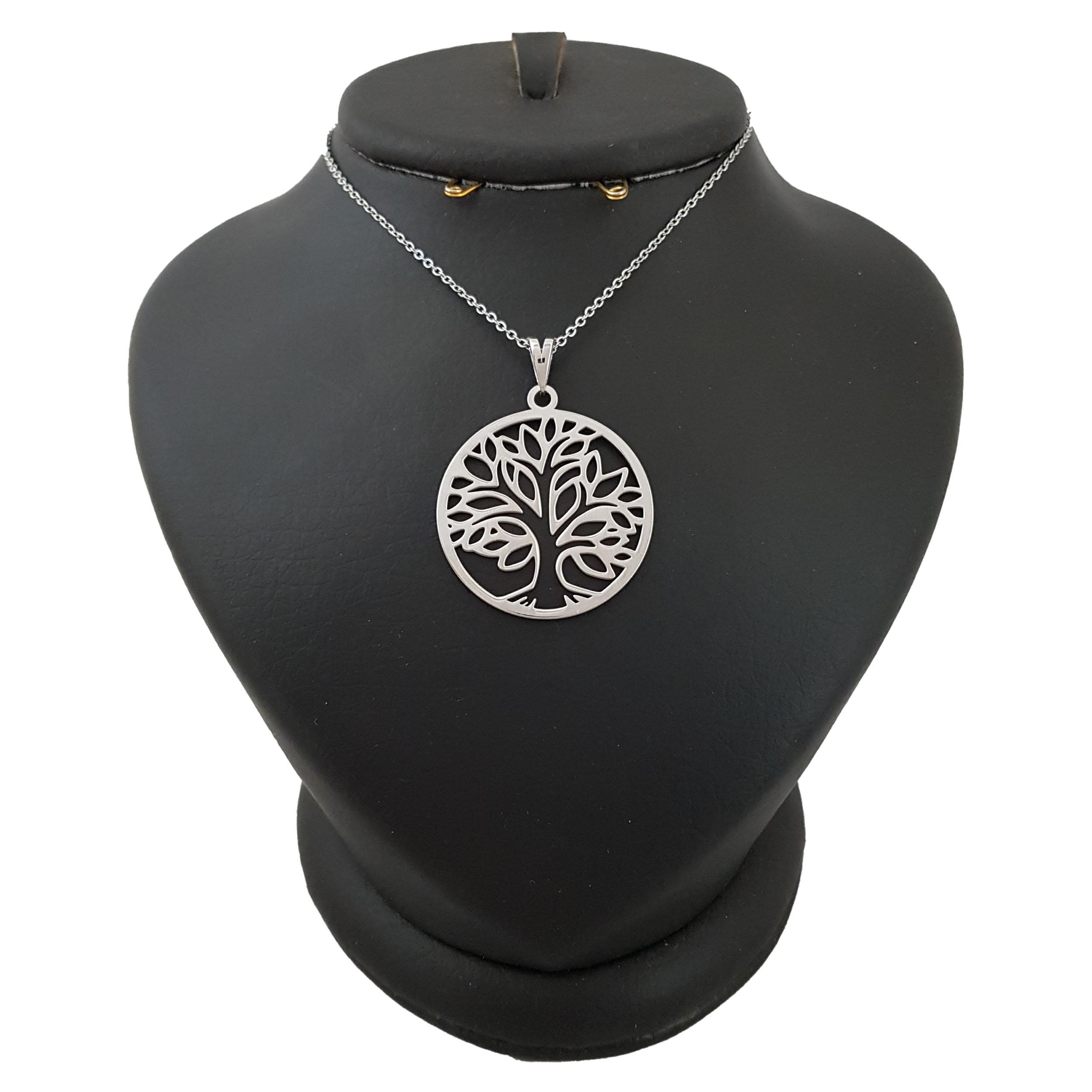 گردنبند نقره مردانه ترمه 1 طرح درخت زندگی کد mas 00298