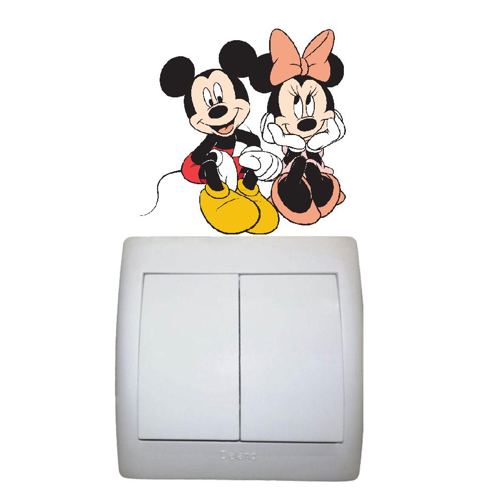 استیکر فراگراف کلید و پریز FG طرح شخصیت های کارتون میکی موس کد 003