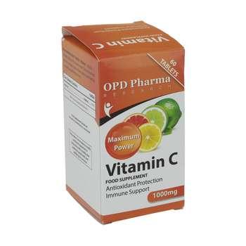 قرص ویتامین ث 1000 میلی گرمی او پی دی فارما بسته 60 عددی
