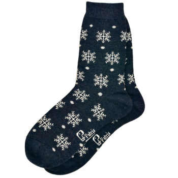 جوراب زنانه طرح دانه برف کد 0004