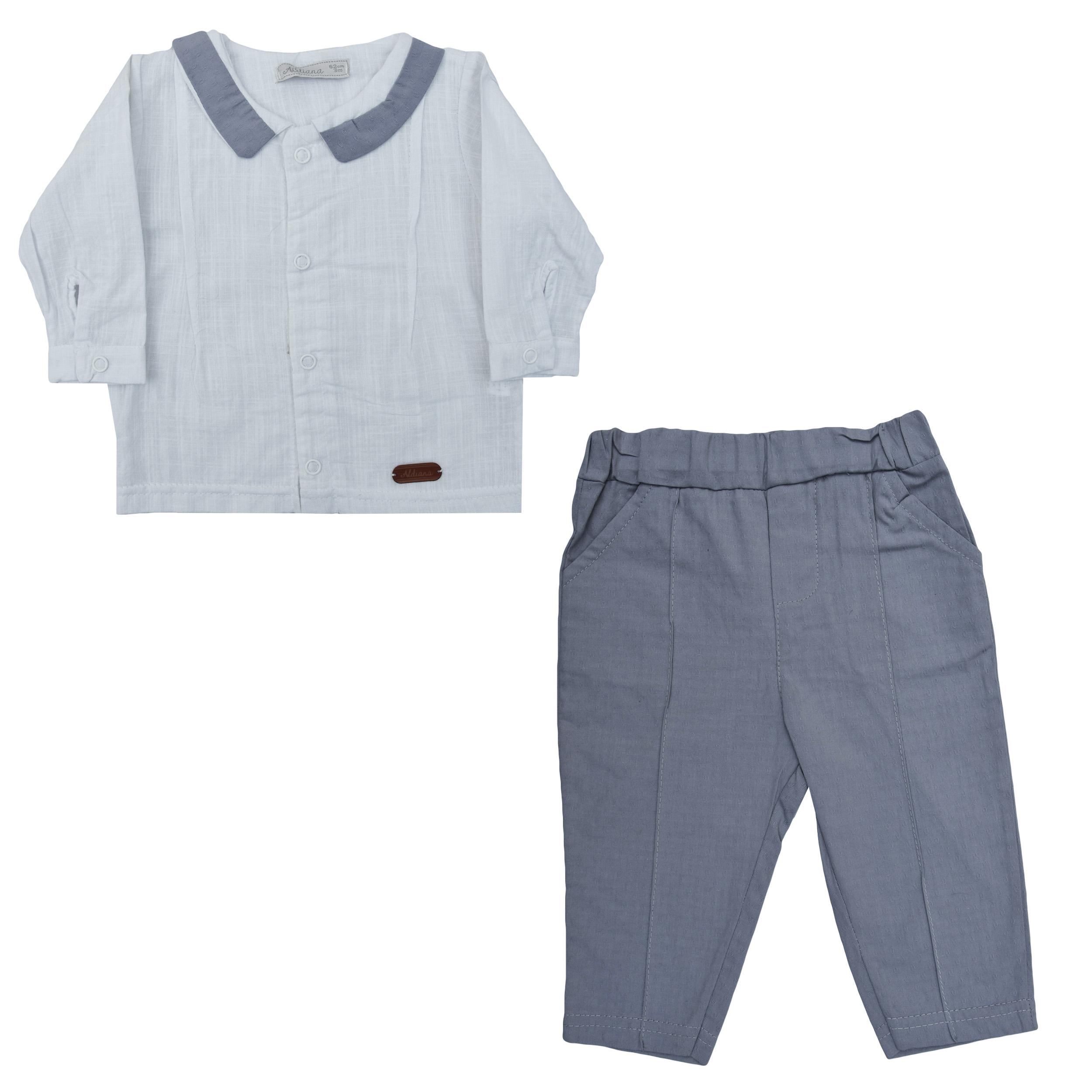 ست پیراهن و شلوار نوزادی آلدیانا مدل 6014S-TO