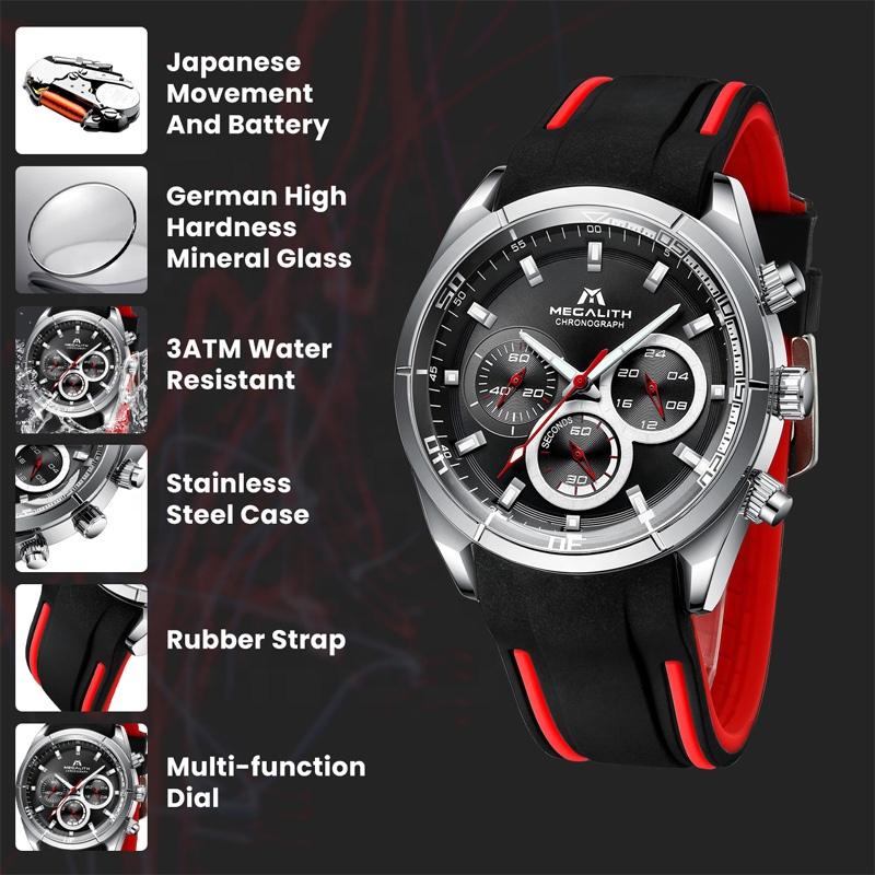 ساعت مچی عقربه ای مردانه مگالیت مدل 8049-sil              خرید (⭐️⭐️⭐️)