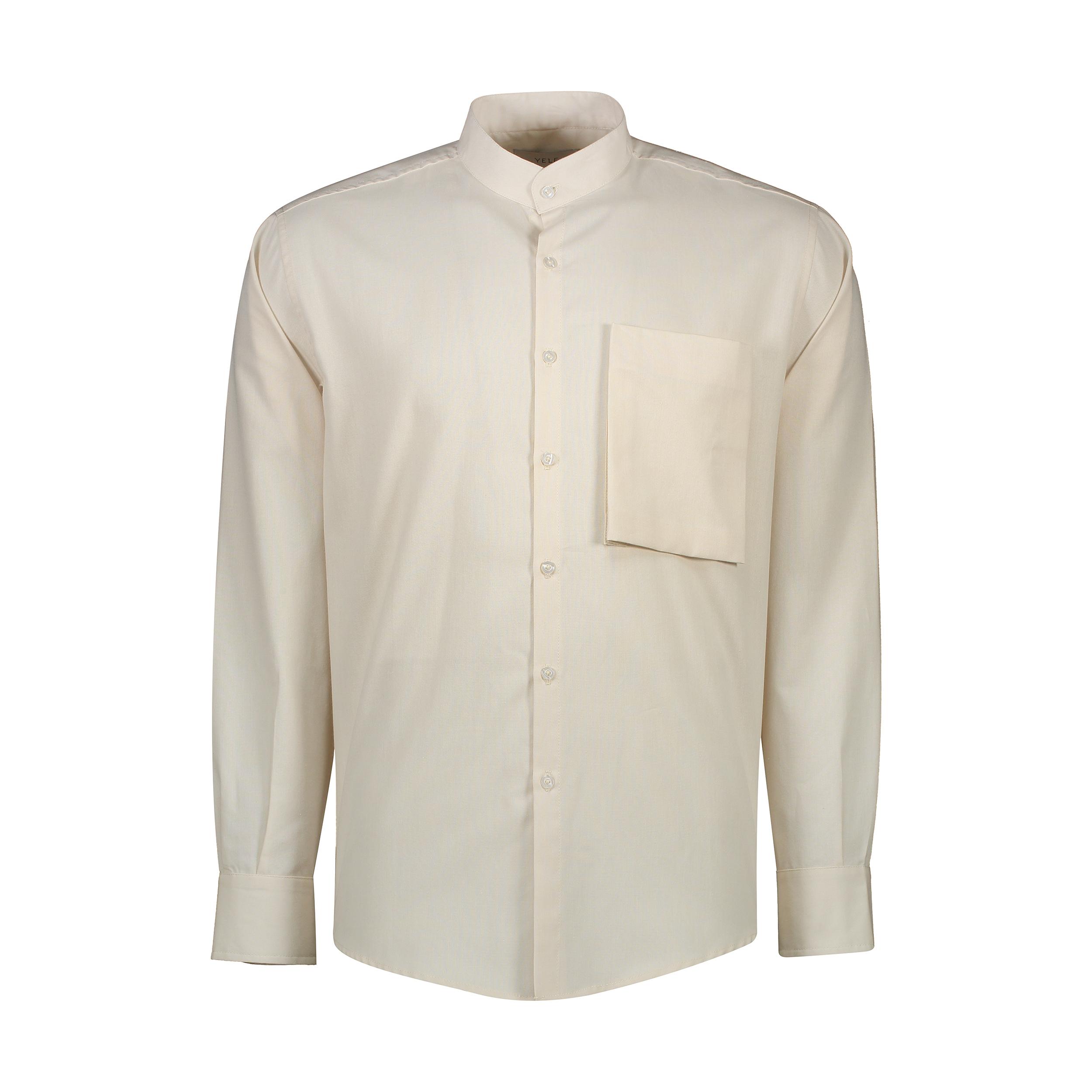 پیراهن آستین بلند مردانه یله مدل M4493000SHرنگ کرم روشن