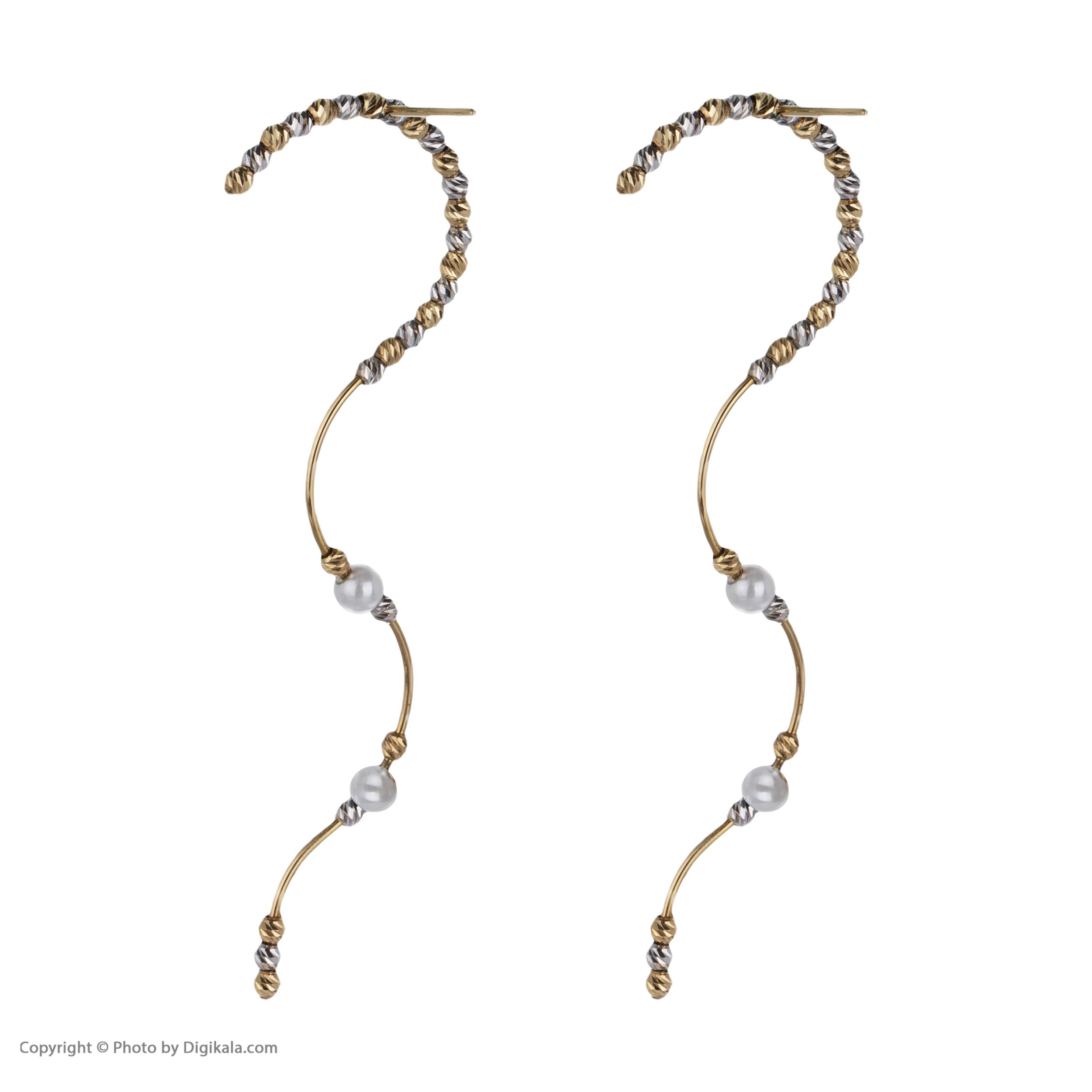 گوشواره طلا 18 عیار زنانه سیودو مدل 146436 -  - 5