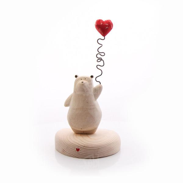 مجسمه چوبی رنگ قهوه ای  طرح خرس مهربانمدل 1105900042