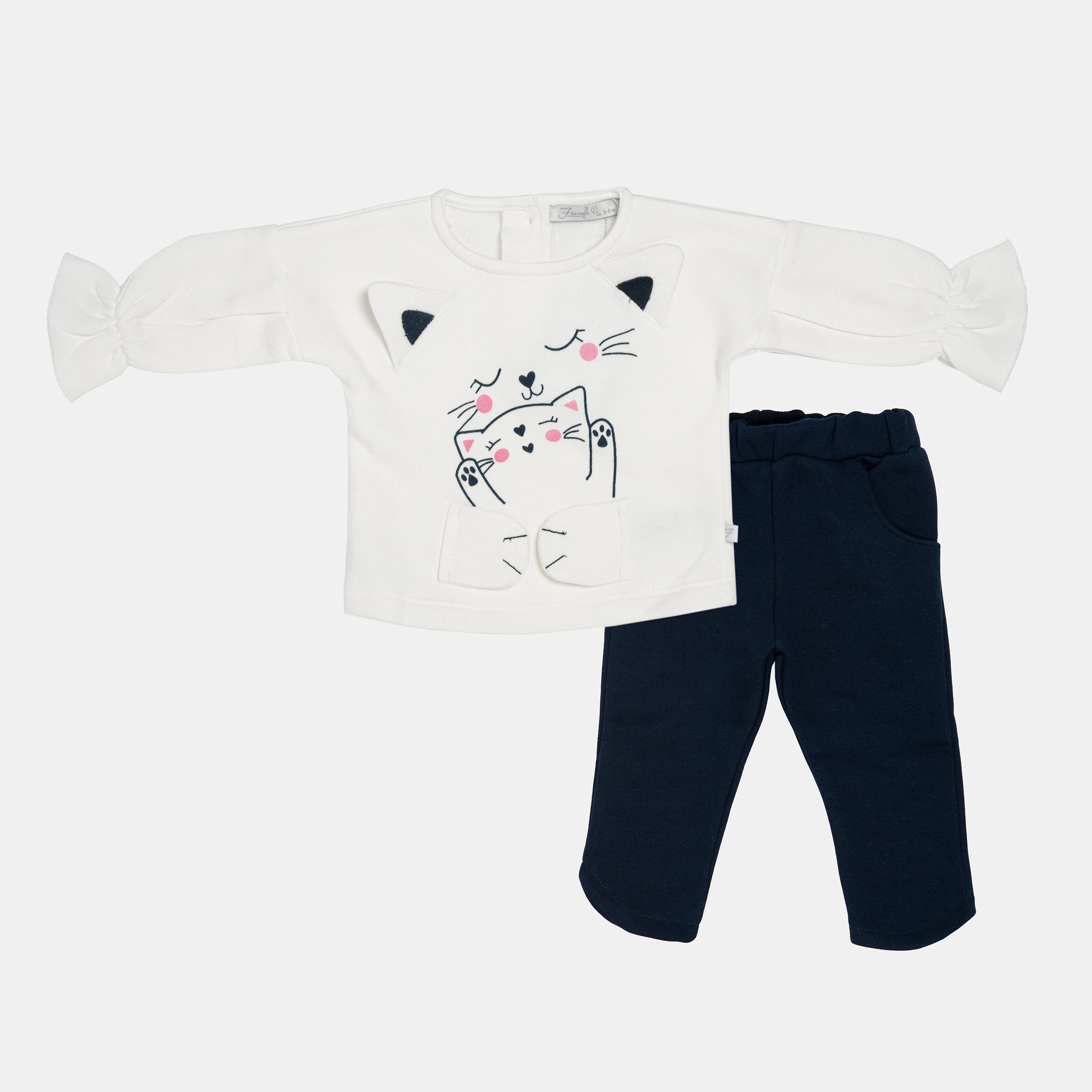 ست بلوز و شلوار نوزادی دخترانه فیورلا کد 20515