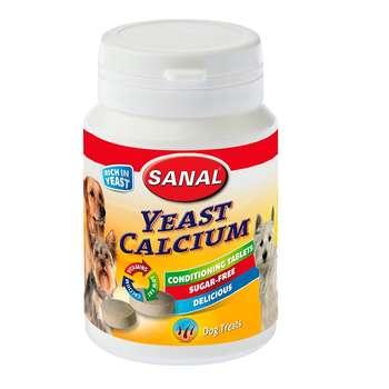 قرص مکمل سگ سانال مدل calcium وزن 75 گرم