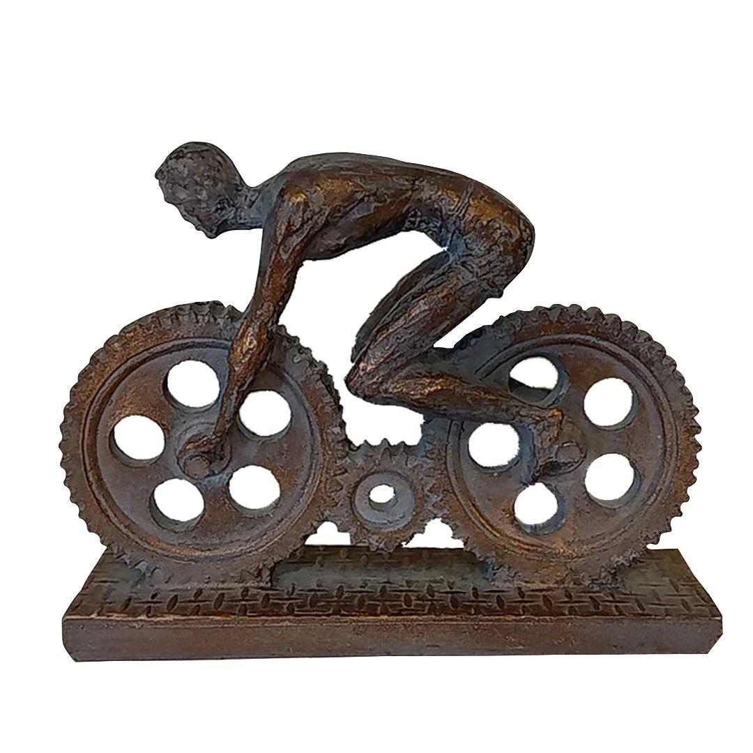 خرید                      مجسمه طرح مرد دوچرخه سوار مدل Ogips
