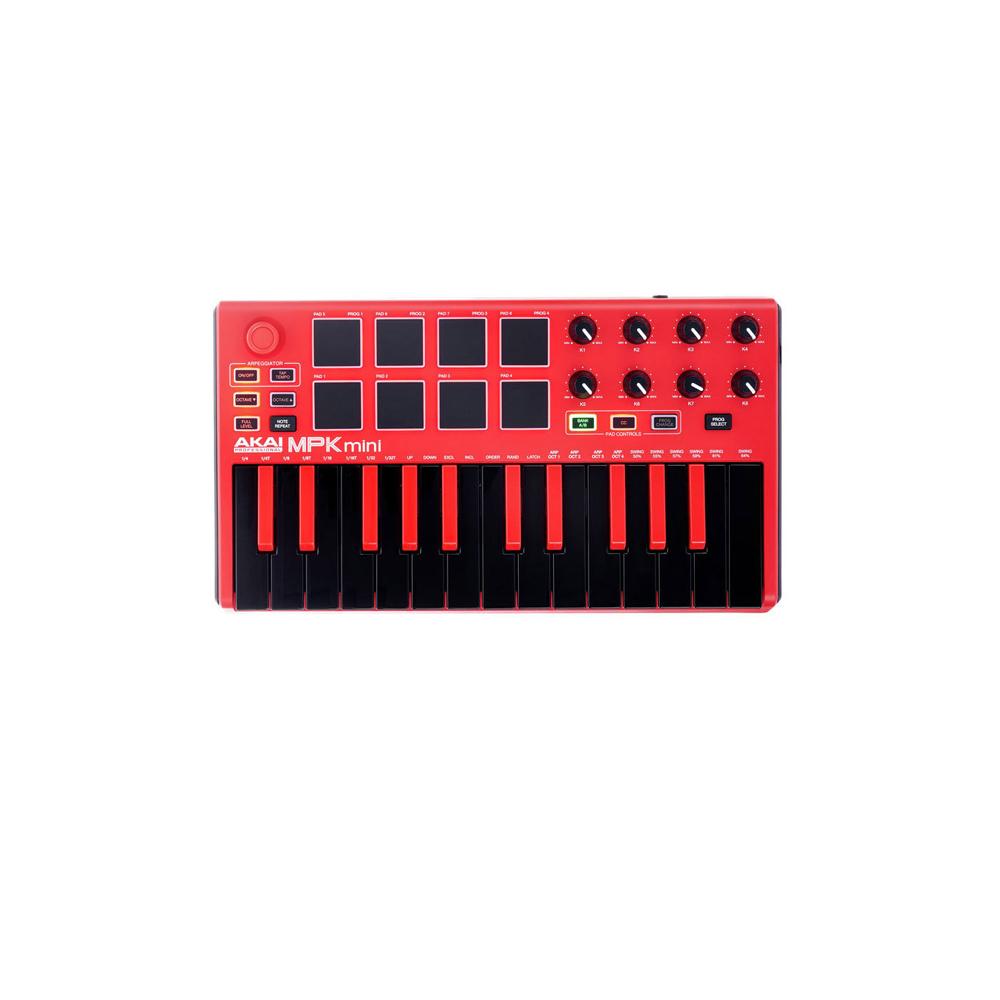 میدی کنترلر مدل AKAI MPK Mini MKII RED