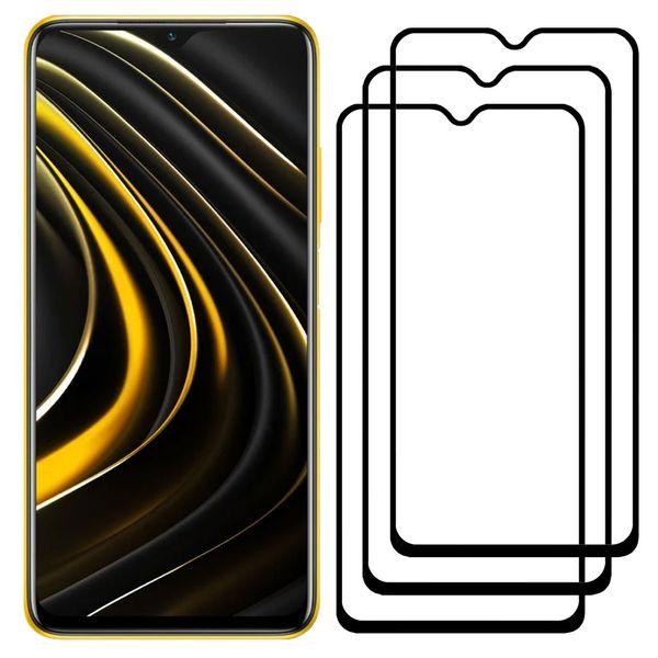 محافظ صفحه نمایش مدل FCG مناسب برای گوشی موبایل شیائومی Poco M3 بسته سه عددی