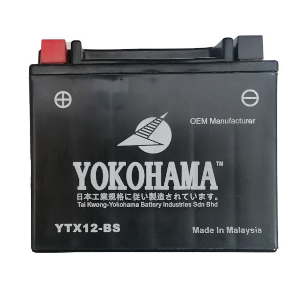 باتری موتورسیکلت یوکوهاما مدل YTX12-BS
