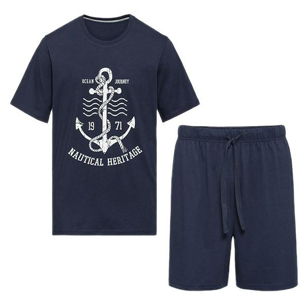 ست تی شرت و شلوارک مردانه لیورجی مدل MSBL3