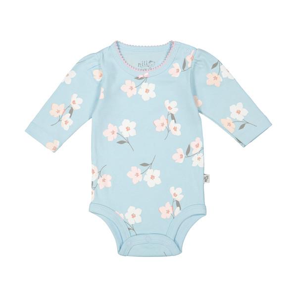 بادی آستین بلند نوزادی نیلیمدل lovly 86180