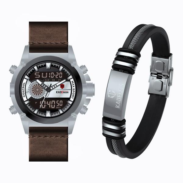 ست ساعت مچی دیجیتال و دستبندمردانه کیدمن مدل K347GB