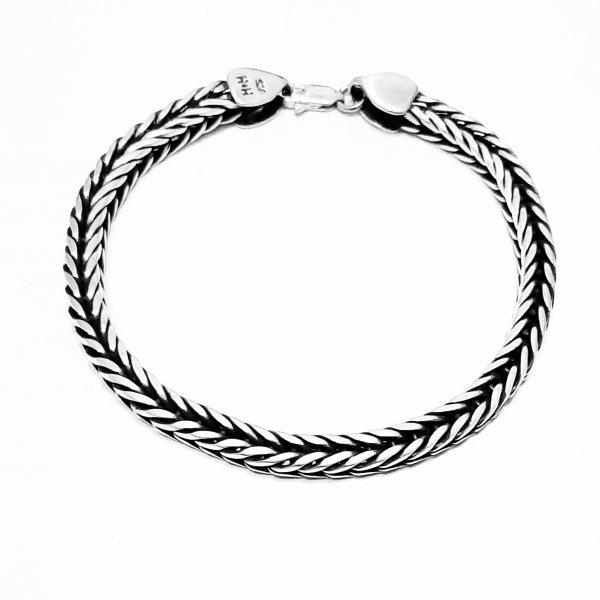 دستبند نقره مردانه کد HN10201