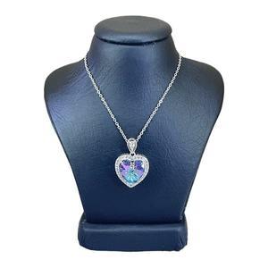 گردنبند نقره زنانه سواروسکی مدل قلب جواهری کد 2209