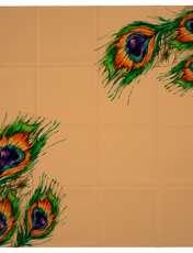 روسری زنانه 27 طرح پر طاووس کد H01 -  - 9