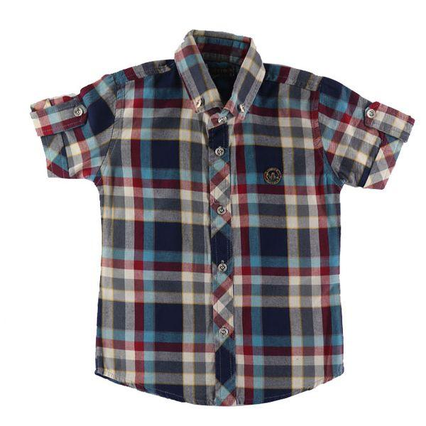 پیراهن پسرانه طرح چهارخانه کد z25