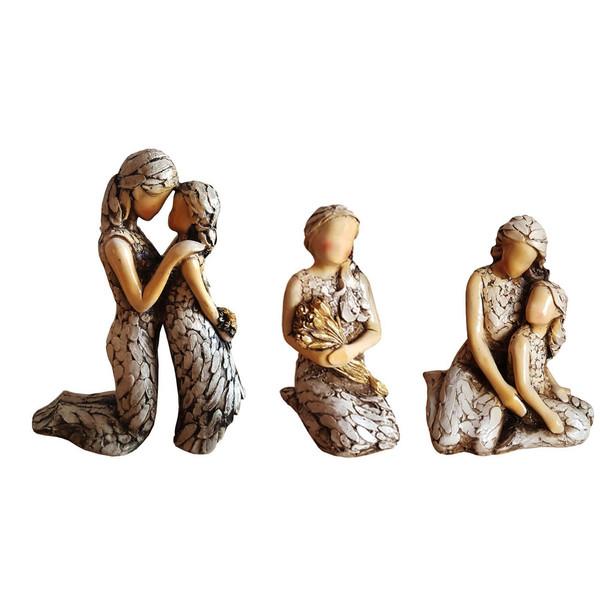 مجسمه لیلپار طرح هدیه مادر مدل DGA-2113 مجموعه سه عددی