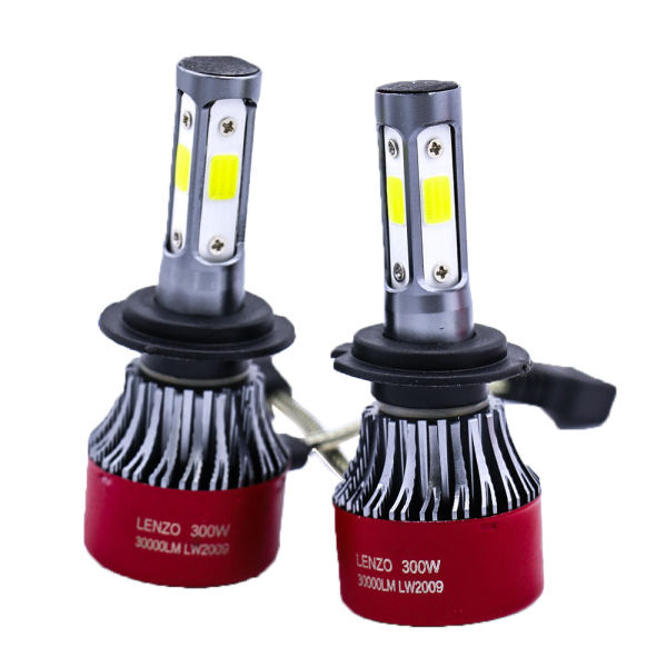 لامپ هدلایت خودرو لنزو مدل پایه رنگی بسته 2عددی
