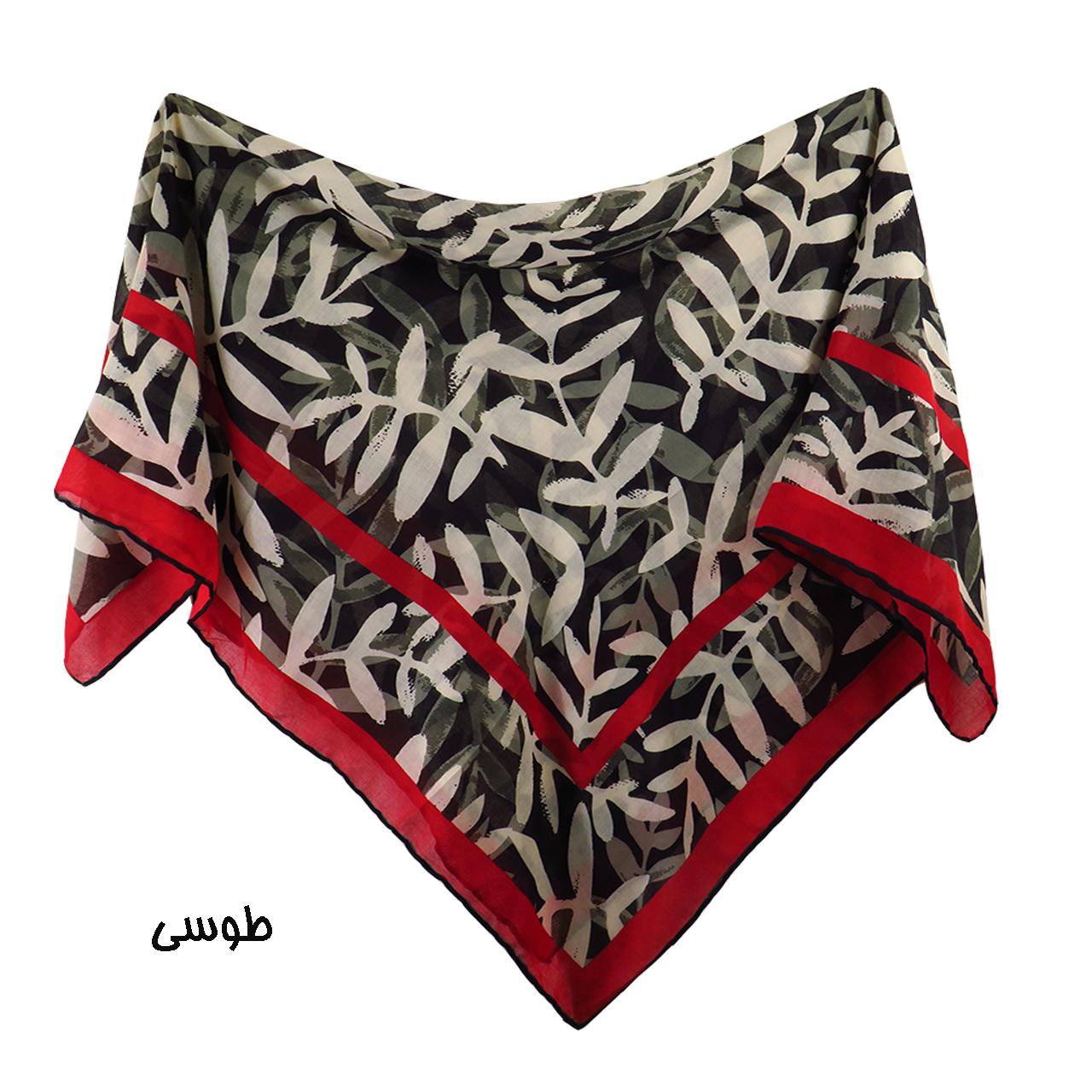 روسری زنانه لمیز مدل برگ  -  - 6