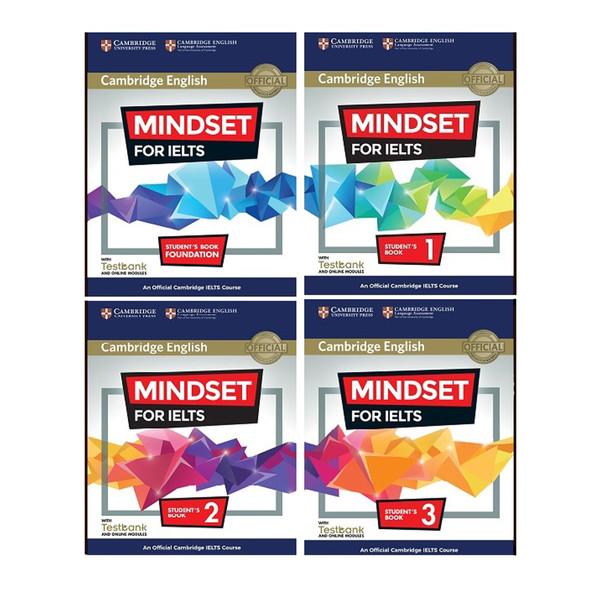 کتاب Cambridge English Mindset For IELTS اثر جمعی از نویسندگان انتشارات هدف نوین 4 جلدی