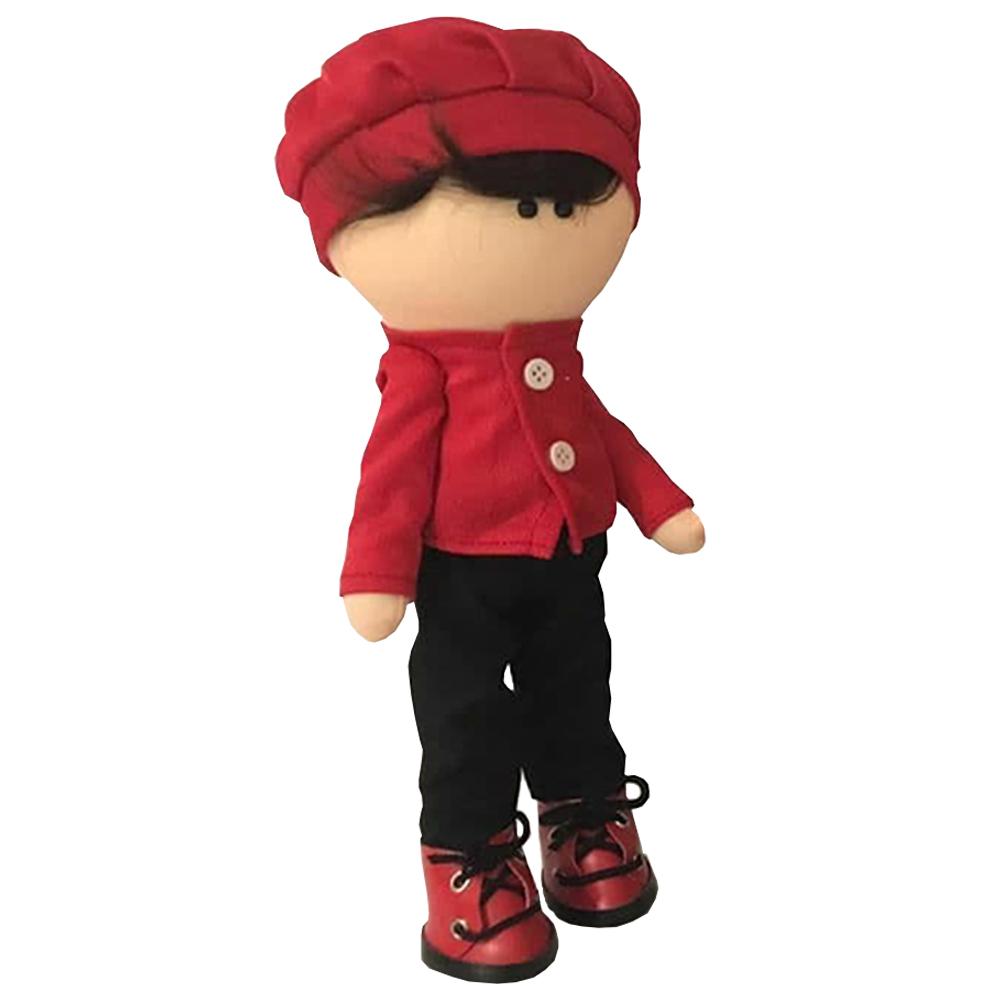 عروسک طرح پسر مدل کلاه دار کد 1055 ارتفاع ۳۰ سانتی متر