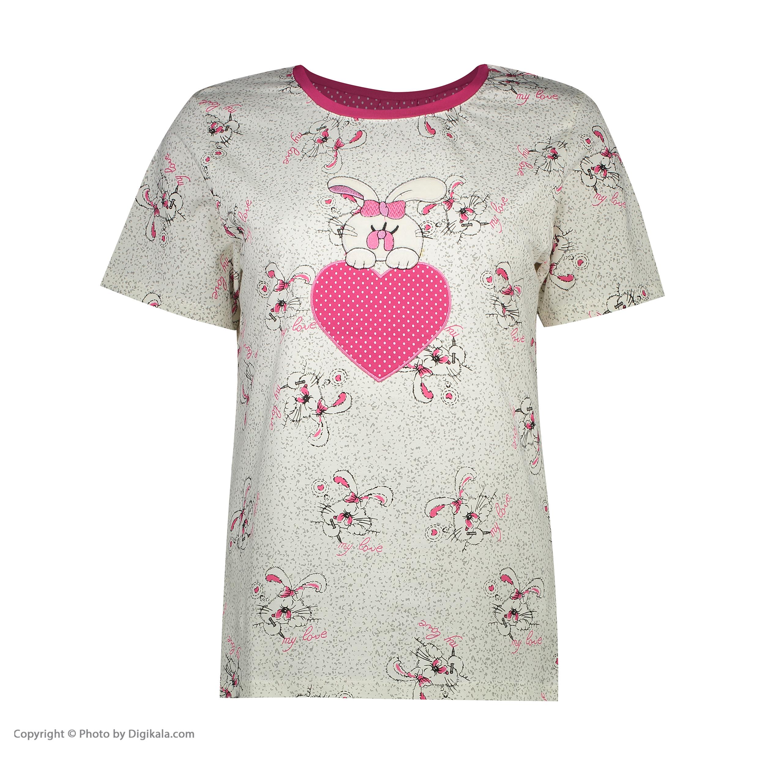 ست تی شرت و شلوارک راحتی زنانه مادر مدل 2041105-66 -  - 4
