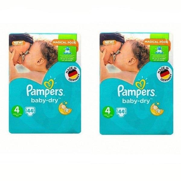 پوشک کودک پمپرز مدل New baby dry سایز 4 مجموعه 2 عددی