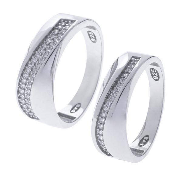 ست انگشتر نقره زنانه و مردانه مدل HS1008