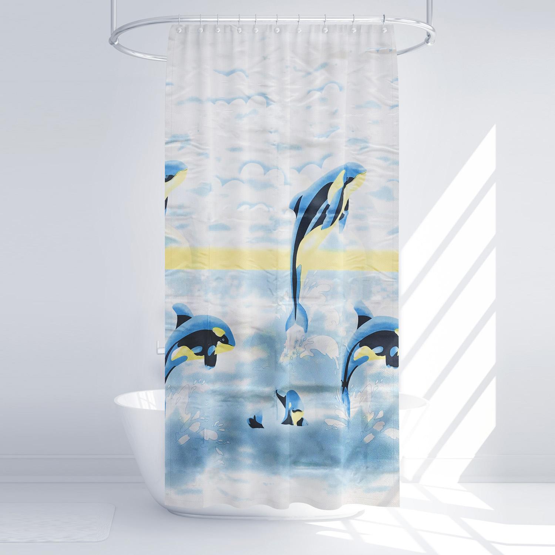 پرده حمام آرمیتا کد W049 سایز 180 × 200 سانتی متر