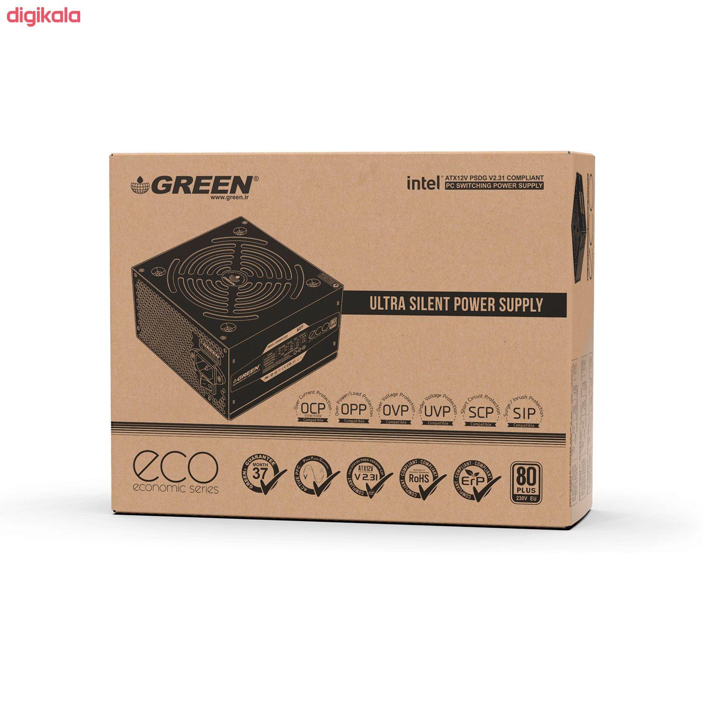 منبع تغذیه کامپیوتر گرین مدل GP450A-ECO Rev3.1 main 1 7