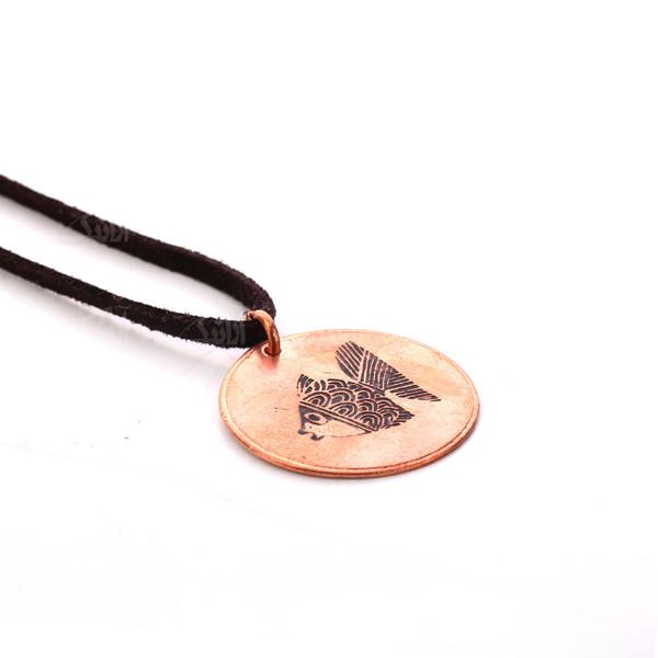 گردنبند دست ساز زنانه آرانیک مدل مسی طرح ماهی سیاه کوچولو کد 1524800002