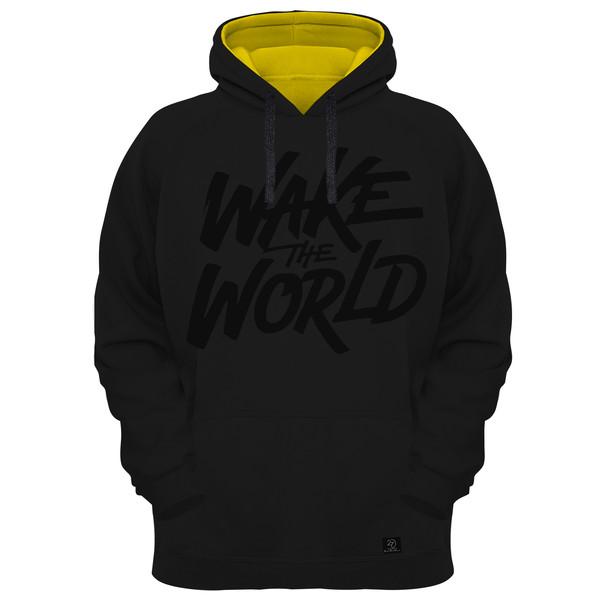 هودی مردانه 27 مدل WAKE THE WORLD کد AL23 رنگ مشکی