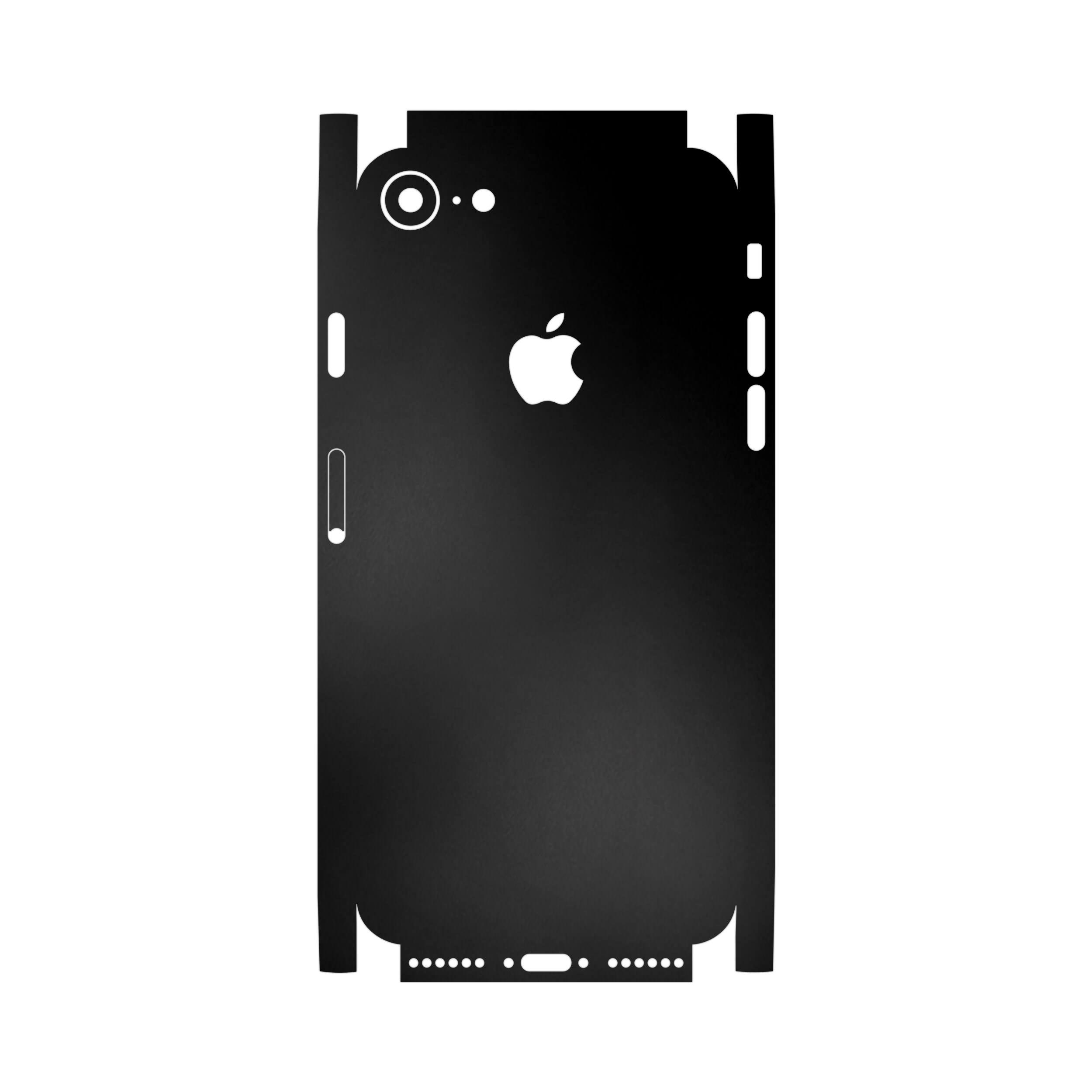 برچسب پوششی ماهوت مدل Black-Matte-FullSkin مناسب برای گوشی موبایل اپل iPhone 7