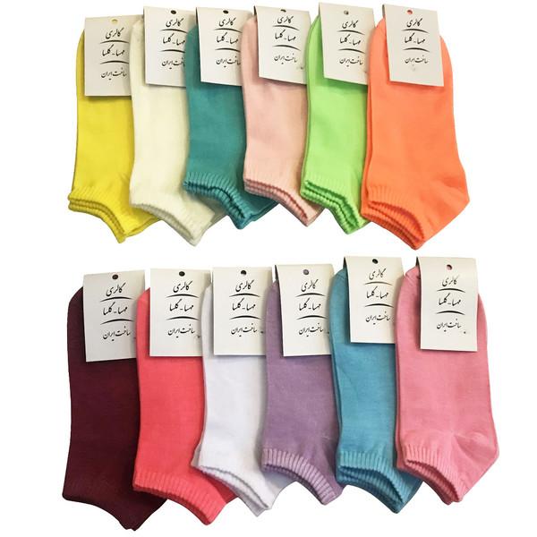 جوراب زنانه گالری مهسا گلسا مدل VES33 مجموعه 12 عددی