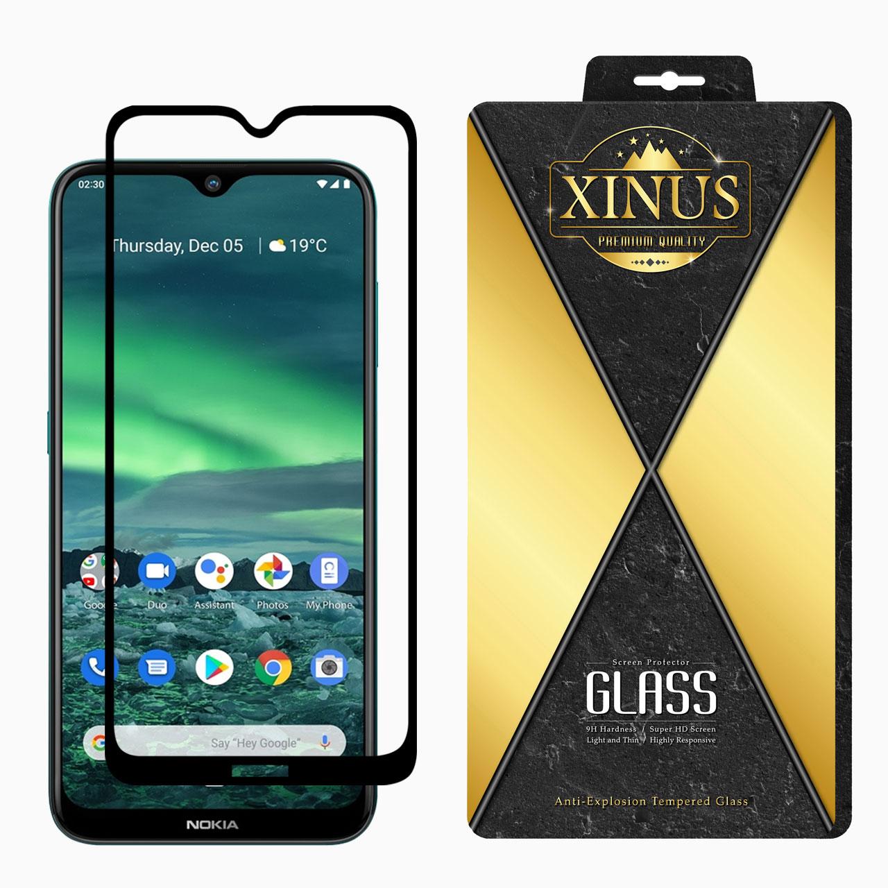 بررسی و {خرید با تخفیف} محافظ صفحه نمایش 5D ژینوس مدل FGX مناسب برای گوشی موبایل نوکیا 2.3 اصل