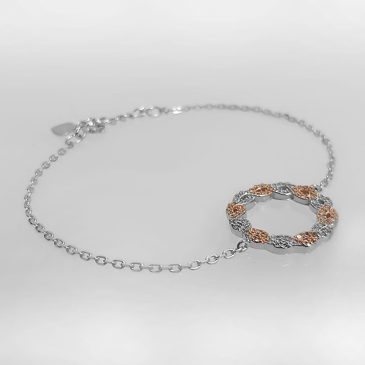دستبند نقره زنانه اقلیمه کد DN439 -  - 9